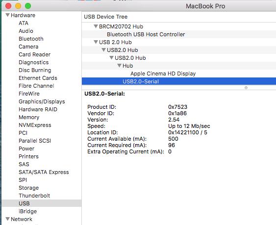 Arduino driver download mac